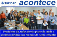 Jornal ACONTECE de julho destaca plano Benevix/Unimed e Jurídico da Anfip nacional