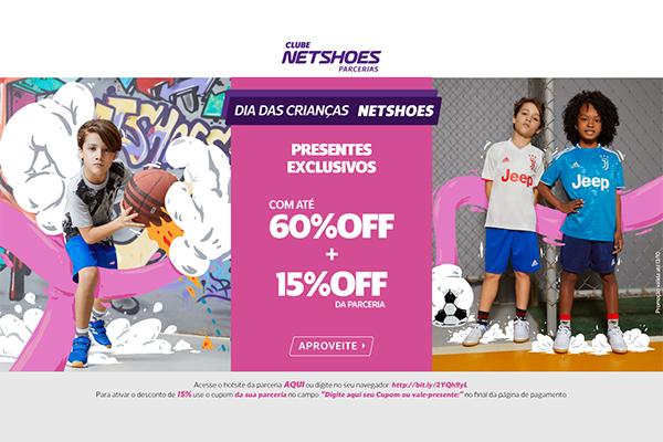 Convênio ANFIP-SP: promoção Netshoes Dia das Crianças