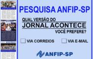 Pesquisa ANFIP-SP: você prefere o JORNAL ACONTECE via correios ou por e-mail?