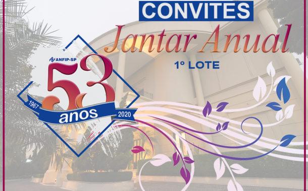ANFIP-SP inicia venda dos convites para o Jantar Anual