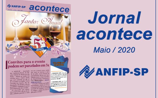 Jornal ACONTECE destaca venda dos convites para o Jantar Anual da entidade