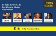 Anfip aborda efeitos da reforma da Previdência em live que será realizada amanhã (dia 27)