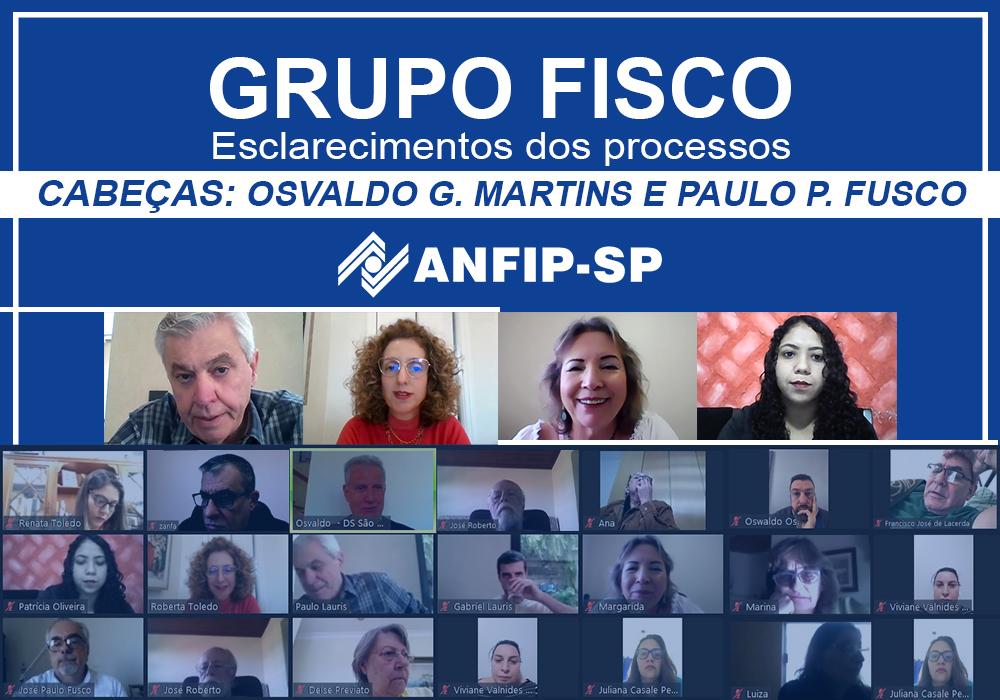 Grupo Fisco: reunião aborda processos de Osvaldo Garcia Martins e Paulo Pierino Fusco