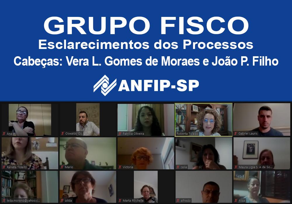 Grupo Fisco: reunião aborda processos de Vera Lúcia Gomes de Moraes e João Paiva Filho