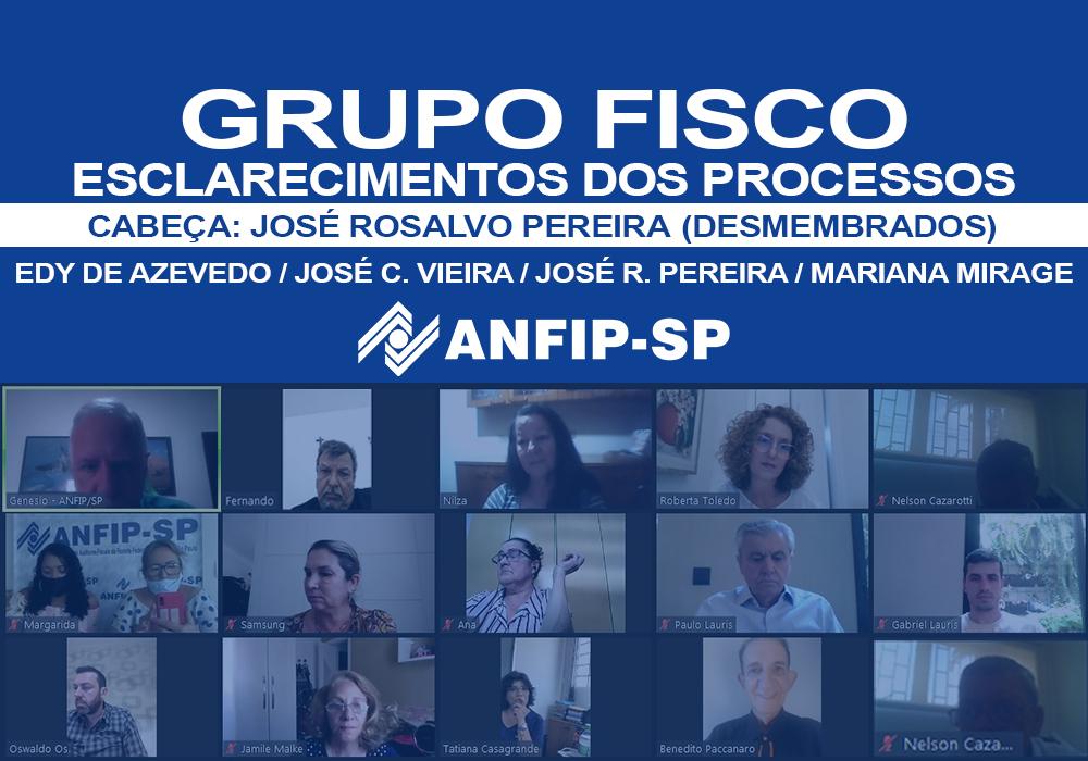 Grupo Fisco: reunião trata outros quatro processos desmembrados de José Rosalvo Pereira