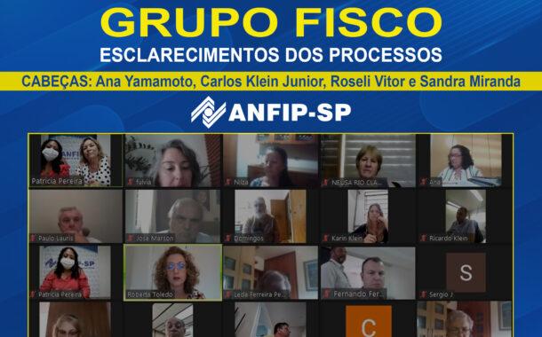 Grupo Fisco: reunião aborda processos de Ana Yamamoto, Carlos Klein, Roseli Barbosa e Sandra Miranda