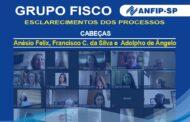 Grupo Fisco: reunião aborda processos de Anésio Felix, Francisco da Silva e Adolpho de Ângelo