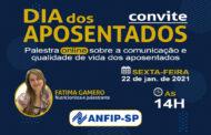 ANFIP-SP convida associados para palestra em comemoração ao Dia dos Aposentados