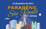 25 de janeiro: aniversário da Cidade de São Paulo