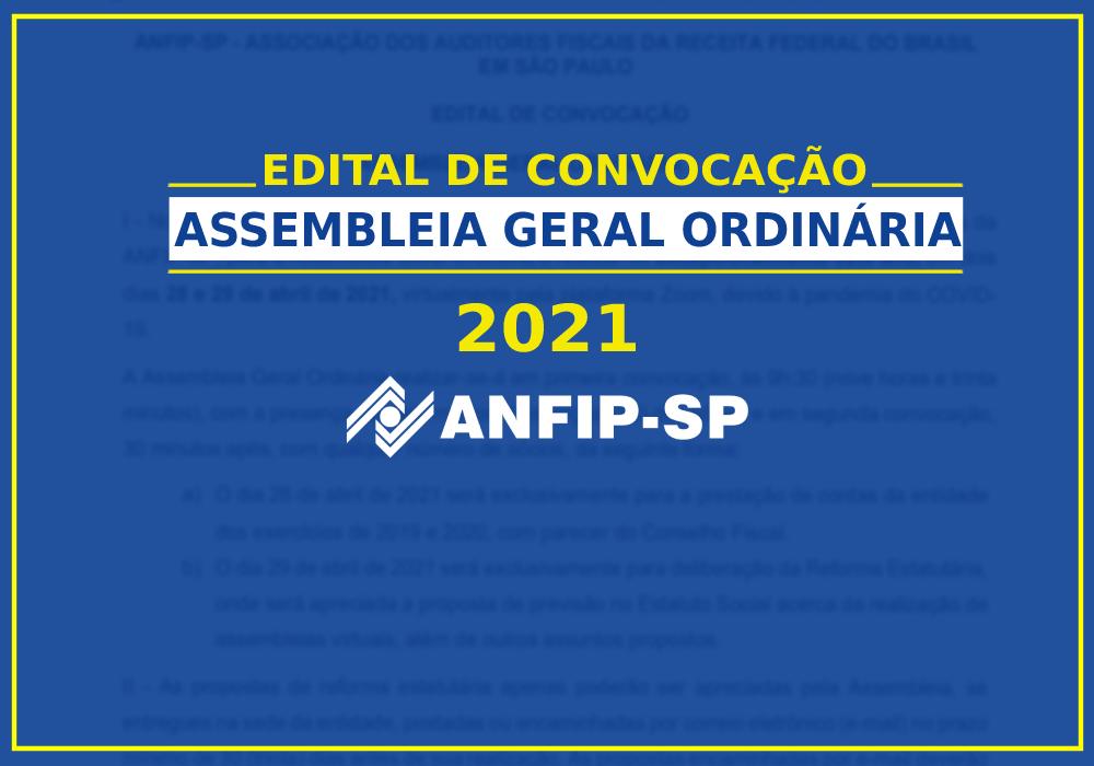 Edital de convocação com adiamento da Assembleia Geral Ordinária