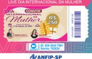 Confira link de acesso para live com sorteio de quatro vales-presente no Dia Internacional da Mulher