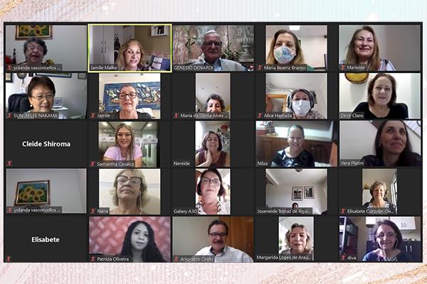 Participantes da live do Dia Internacional da Mulher