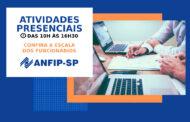 ANFIP-SP divulga escala dos funcionários para a volta das atividades presenciais; confira