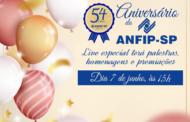Live em comemoração aos 54 anos da ANFIP-SP terá palestras, homenagens e premiações; participe