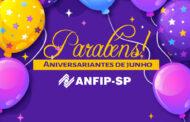 ANFIP-SP parabeniza aniversariantes do mês de junho