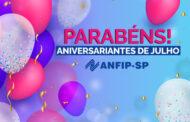 ANFIP-SP parabeniza aniversariantes do mês de julho